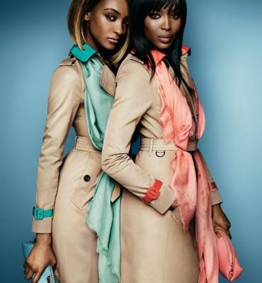 Jourdan Dunn & Naomi Campbell in 2015 Burberry Campaign