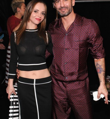 Christina Ricci and Marc Jacobs Backstage during a Fashion Show