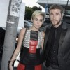 Miley Cyrus and Liam Hemsworth attend the premiere of Relativity Media's 'Paranoia' on Aug. 8, 2013 in Los Angeles, California.