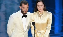Jamie Dornan and Dakota Johnson speak onstage during the 89th Annual Academy Awards at Hollywood & Highland Center on Feb. 26, 2017 in Hollywood, California.