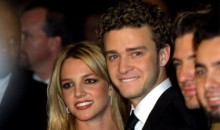 Britney Spears and Justin Timberlake at pre-grammy awards gala on Feb. 26, 2002 in Beverly Hills, CA.