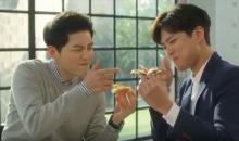 Song Joong Ki & Park Bo Gum Cute Behind the Scene for Dominos Pizza CF