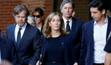 Felicity Huffman leaves courthouse with William Macy