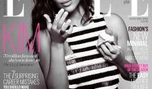 Kim Kardashian works it for Elle UK's Confidence Issue cover
