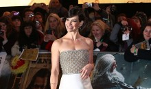 Evangeline Lilly Turns Heads at Hobbit Premiere in a Reem Acra gown