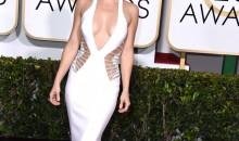 Kate Hudson on red carpet at 2015 Golden Globe Awards