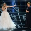Lady Gaga introducing Julie Andrews at the Oscars after a